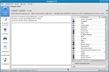 Museeq Screenshot : Chatroom (mini)